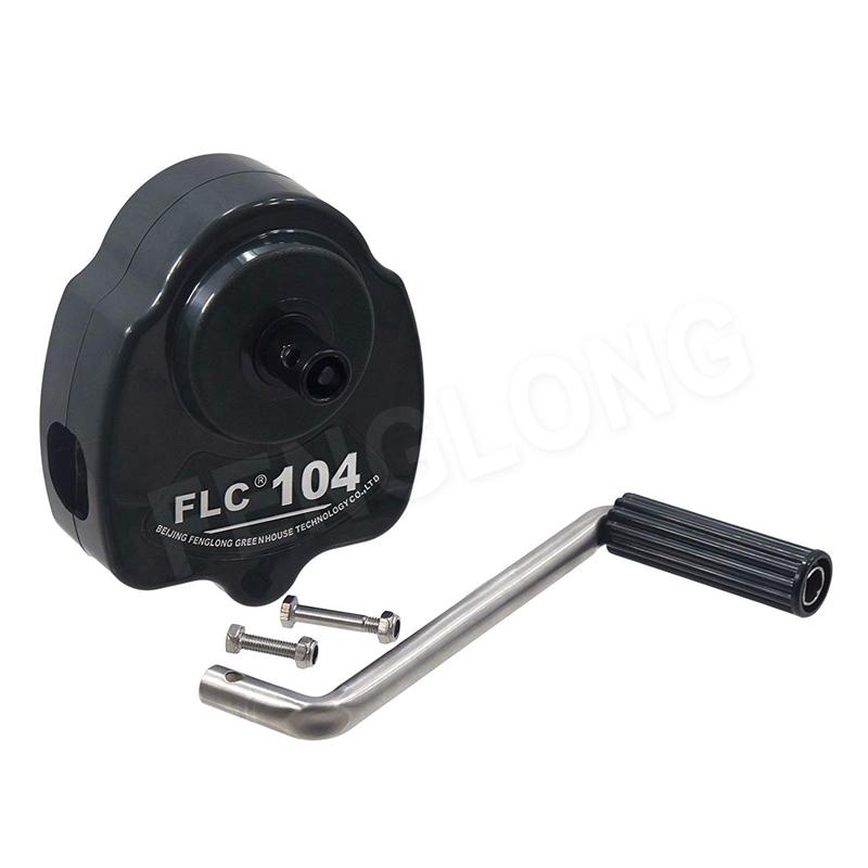 Sản phẩm có đánh giá!  Lốp tay phim Reeler Hand Crank Winch cuộn lên Unit cho Poly Film nhà kính thông gió BS104 Featured Image
