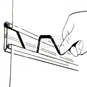 Galvanized Wiggle Wire Lock Channel, Greenhouse Spring Lock Profile